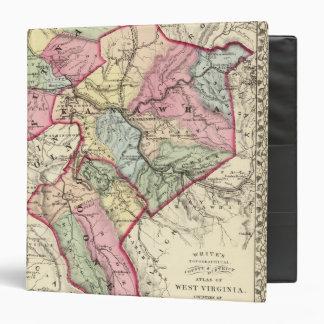 Map of Putnam, Kanawha, Boone counties 3 Ring Binder