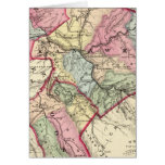 Map of Putnam, Kanawha, Boone counties Card