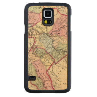 Map of Putnam, Kanawha, Boone counties Carved Maple Galaxy S5 Case