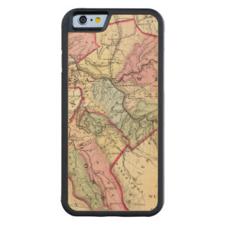 Map of Putnam, Kanawha, Boone counties Carved Maple iPhone 6 Bumper Case