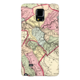 Map of Putnam, Kanawha, Boone counties Galaxy Note 4 Case