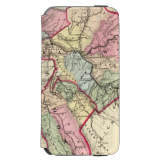Map of Putnam, Kanawha, Boone counties iPhone 6/6s Wallet Case