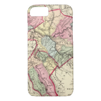 Map of Putnam, Kanawha, Boone counties iPhone 8/7 Case