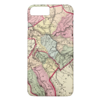 Map of Putnam, Kanawha, Boone counties iPhone 8 Plus/7 Plus Case