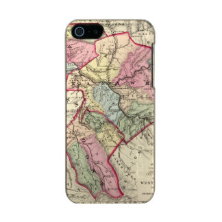 Map of Putnam, Kanawha, Boone counties Metallic Phone Case For iPhone SE/5/5s