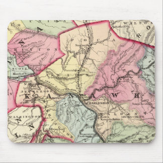 Map of Putnam, Kanawha, Boone counties Mouse Pad