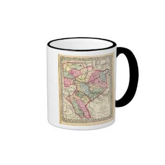 Map of Putnam, Kanawha, Boone counties Ringer Coffee Mug