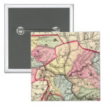Map of Putnam, Kanawha, Boone counties Pinback Button