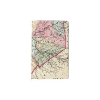 Map of Putnam, Kanawha, Boone counties Pocket Moleskine Notebook
