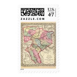 Map of Putnam, Kanawha, Boone counties Postage