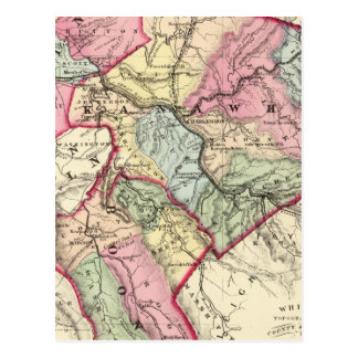 Map of Putnam, Kanawha, Boone counties Postcard