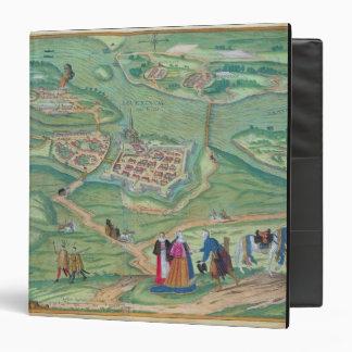 Map of Raab, from 'Civitates Orbis Terrarum' by Ge Binder