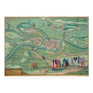 Map of Raab, from 'Civitates Orbis Terrarum' by Ge Postcard
