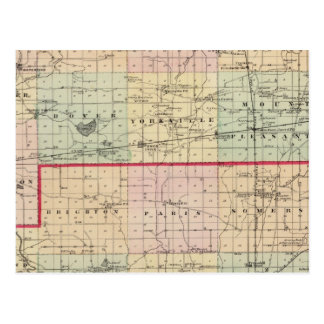 Map of Racine and Kenosha counties Postcard