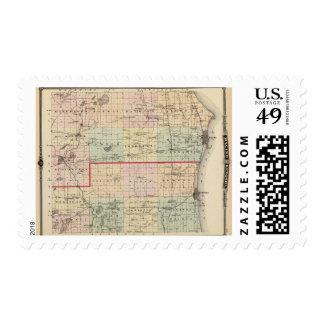 Map of Racine and Kenosha counties Stamp