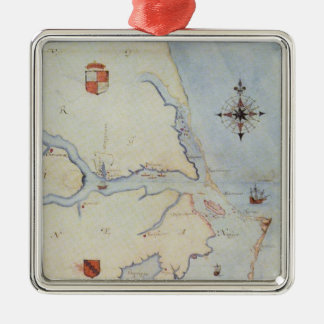 Map of Raleigh s Virginia Christmas Ornament