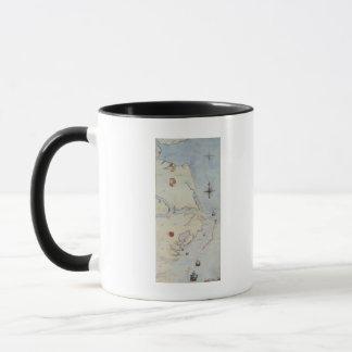 Map of Raleigh's Virginia Mug