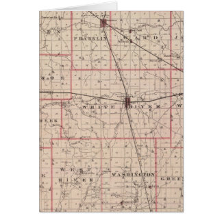 Map of Randolph County Greeting Card