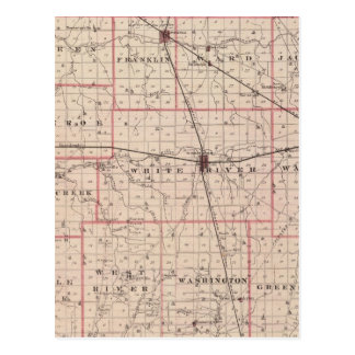 Map of Randolph County Post Cards