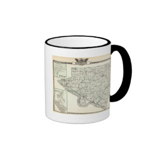 Map of Randolph County Red Bud and Chester Coffee Mug