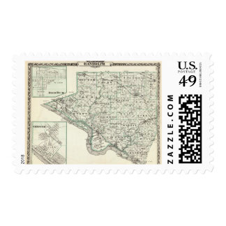 Map of Randolph County, Red Bud and Chester Postage