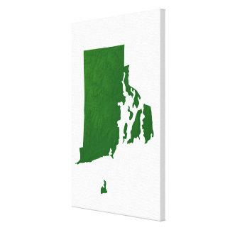 Map of Rhode Island 2 Canvas Print