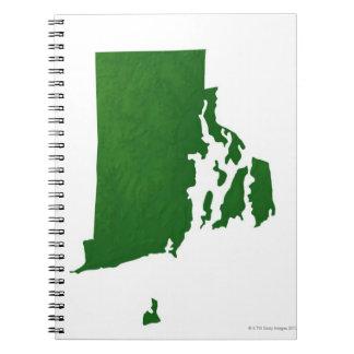 Map of Rhode Island 2 Spiral Notebook