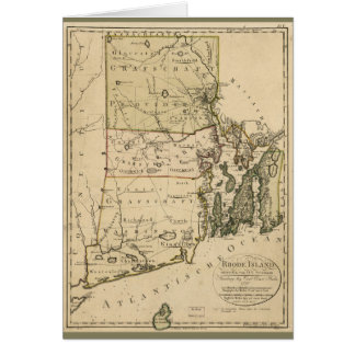Map of Rhode Island by Carl Ernst Bohn (1797) Card