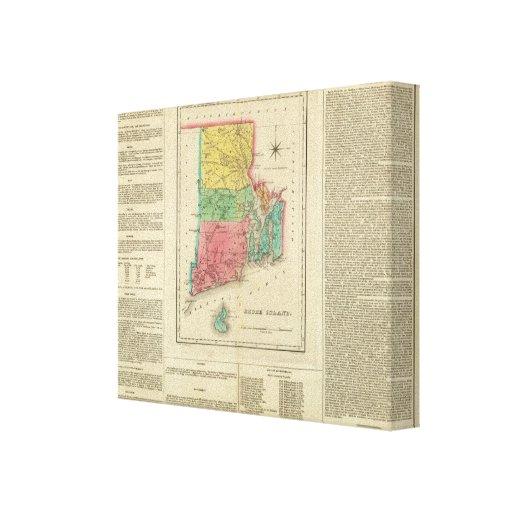 Map Of Rhode Island Canvas Print