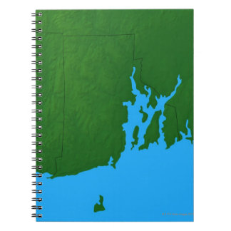 Map of Rhode Island Notebook