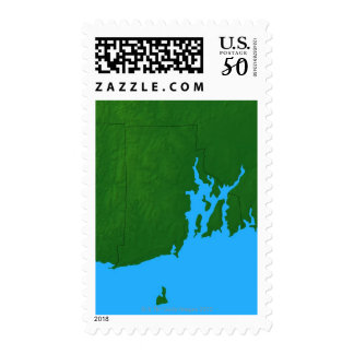 Map of Rhode Island Postage