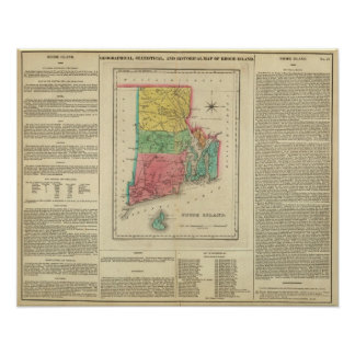 Map Of Rhode Island Poster