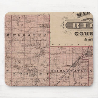 Map of Rice County, Minnesota Mouse Pad