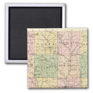 Map of Richland County, State of Wisconsin 2 Inch Square Magnet