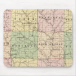 Map of Richland County, State of Wisconsin Mousepad