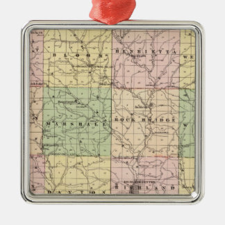 Map of Richland County, State of Wisconsin Ornaments