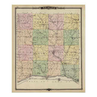 Map of Richland County, State of Wisconsin Poster