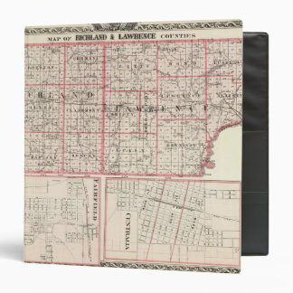 Map of Richland & Lawrence counties 3 Ring Binder