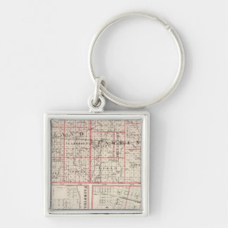Map of Richland & Lawrence counties Keychain