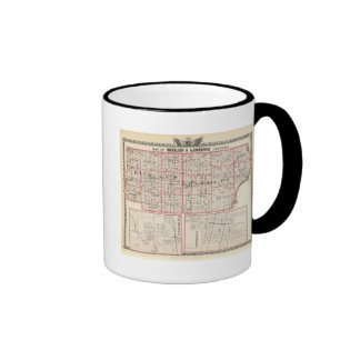 Map of Richland & Lawrence counties Ringer Coffee Mug