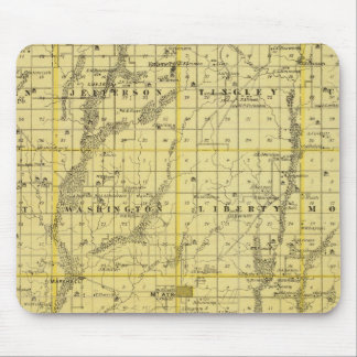 Map of Ringgold County, State of Iowa Mouse Pad