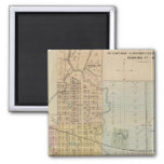 Map of Rochester, Minnesota 2 Inch Square Magnet