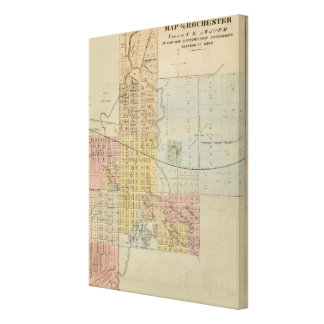 Map of Rochester, Minnesota Canvas Print