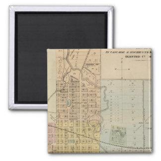 Map of Rochester, Minnesota Fridge Magnet