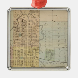 Map of Rochester, Minnesota Metal Ornament