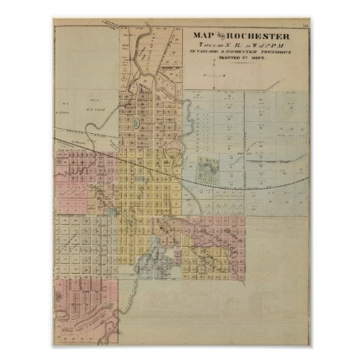 Map of Rochester, Minnesota Poster