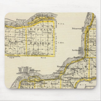Map of Rock Island County and Dixon Mouse Pad