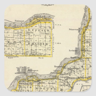 Map of Rock Island County and Dixon Sticker