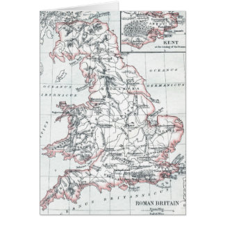 Map of Roman Britain 400AD Card