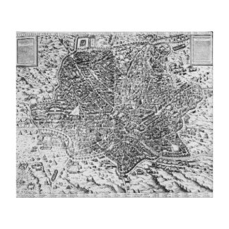 Map of Rome, 1579 Canvas Print